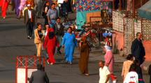 People Walking Down Street, Morocco