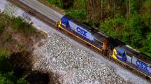 Aerial Of Freight Train