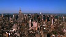 Aerial Skyline Of New York City