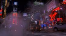 Pedestrians Walk Past Camera, Times Square