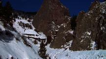Mountain Stream And Rocky Mountains