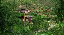 Homes In The Hillside Among Trees, Windy