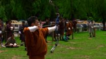 Men Participate In Traditional Archery