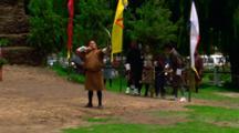 Men Participate In Traditional Archery