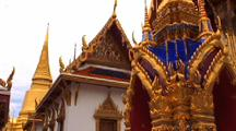 Ornate Buildings At Grand Palace In Bangkok