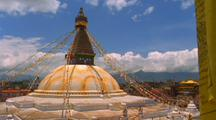 A Buddhist Temple, Stupa, In Nepal