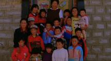Himalayan Orphanage With Children