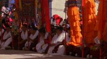 Parade In Nepal With People In Traditional Costume
