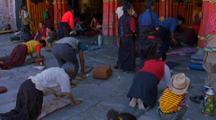 People Worshipping In Himalayan Town