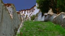 Stairs At White Palace In Tibet