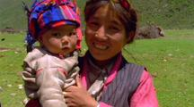 Asian Mother And Child