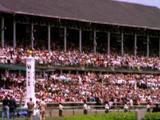 Spectators Watch Horses Race At Kentucky Derby