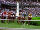 Horses Race At Kentucky Derby