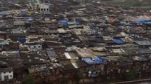 Overlook Of Mumbai Slum