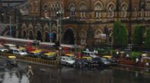 Traffic In Front Of Chhatrapati Shivaji Terminus