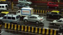 Traffic On Streets Of Mumbai In Rain