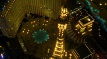Aerial Around The Eiffel Tower At The Paris Hotel And Casino On The Las Vegas Strip
