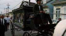 Horse Pulls Hearse In Funeral Procession