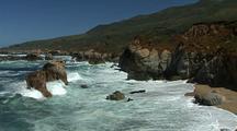 Rugged Coast With Waves Crashing