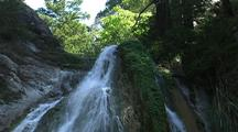 Waterfall In Forest,  Big Sur