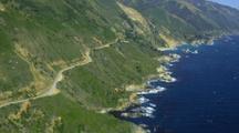 Aerial Central California Coast