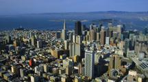 Aerial Downtown San Francisco And Surrounding Area