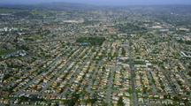 Aerial Oakland, California Suburbs