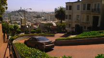 Car Driving Down Lombard Street