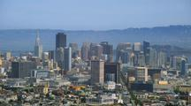Overlook Pan Of Downtown San Francisco