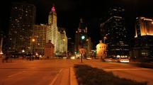 Michigan Avenue, Chicago At Night