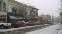 Panorama Of Winter In Ashland, Oregon