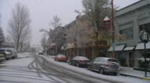 Panorama Of Winter In Ashland, Oregon