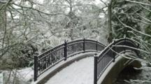 Foot Bridge Covered With Snow