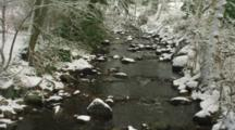 Small Stream In Snow