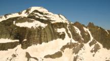 Aerial Of High Mountain Peaks