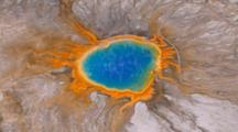 Aerial Of Grand Prismatic Spring, Yellowstone