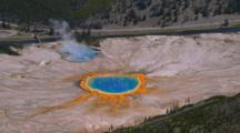 Aerial Of Biscuit Basin Geysers, Yellowstone