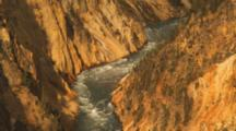 Close Up Of Yellowstone River At Sunrise