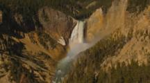 Lower Yellowstone Falls With Rainbow, Zoom Out