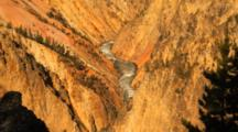Grand Canyon Of Yellowstone, From Above, Zoom Out