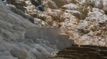 Close Up Of Terraces At Mammoth Hot Springs, Yellowstone