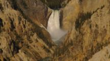 Close Up Of Yellowstone Falls, Zoom In