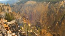 Grand Canyon Of Yellowstone, Close Up, Zoom Out
