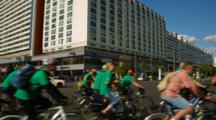 Many Bicyclists Ride In Downtown Berlin