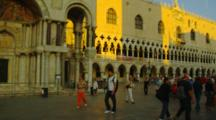 Tourists At The Doge's Palace In Venice