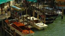 Water Taxis At Dock In Venice