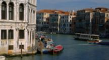 Motorboats Travel Up And Down Venice Canal