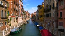 Colorful Buildings Line A Venice Canal