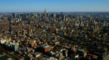 Aerial Of The Manhattan Skyline