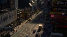 People And Traffic In Times Square During The Day